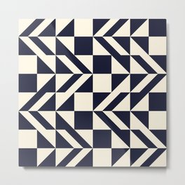 Seamless monochrome geometry pattern. Metal Print