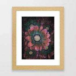 hippie flowers Framed Art Print