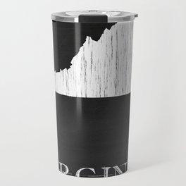 Virginia State Map Chalk Drawing Travel Mug
