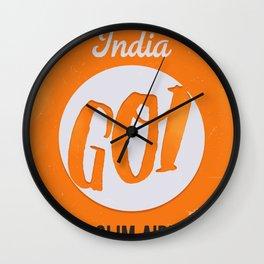GOI GOA orange Wall Clock