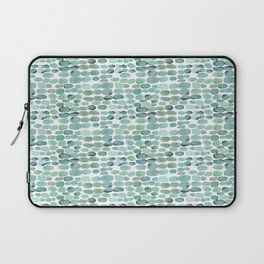 Teal pebbles Laptop Sleeve