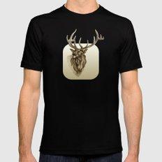 Elk Portrait - In the Roar MEDIUM Mens Fitted Tee Black