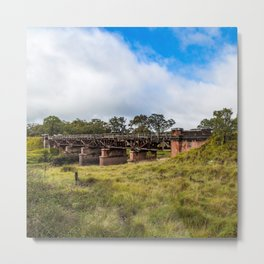 Old Rail Bridge near Tenterfield Metal Print