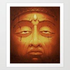 Buddha II Gold Art Print