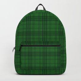 Green Plaid  Backpack