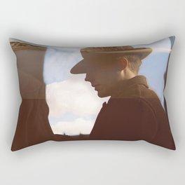 Man with hat Rectangular Pillow