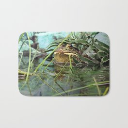 Frog Camouflaged in Water Bath Mat