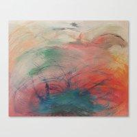 chakra Canvas Prints featuring Chakra Dance by Marianne Johansen