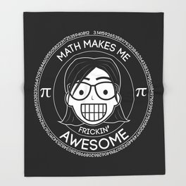 Frickin Awesome - Math Girl Throw Blanket
