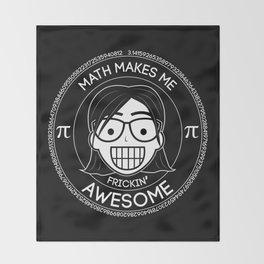 Frickin Awesome - Math Girl Throw Blanket