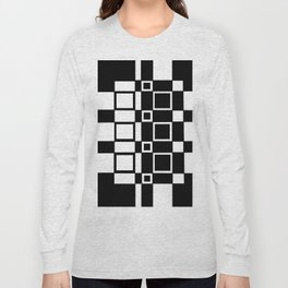 Chic Checkerboard Long Sleeve T-shirt