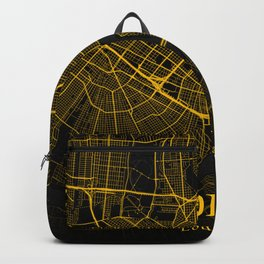 New Orleans Louisiana City Map | Gold American City Street Map | United States Cities Maps Backpack