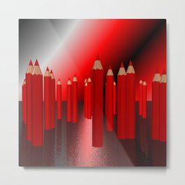 many red pencils Metal Print