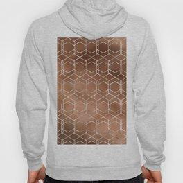 Copper & White Modern Geometric Pattern Hoody