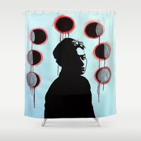 kpop Shower Curtains featuring Blood Moons by Ahri Tao