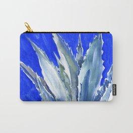 Blue Agave, Succulents, Blue Turquoise green plants design desert plants Carry-All Pouch