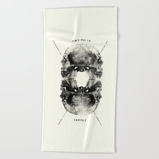 Two-Faced People Beach Towel
