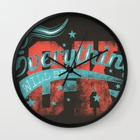 reassurance Wall Clocks featuring Reassurance  by Tshirt-Factory