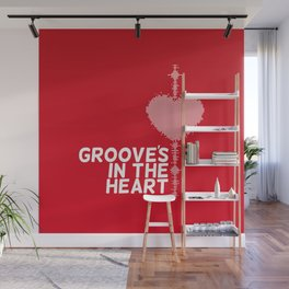Grooves in the heart Wall Mural