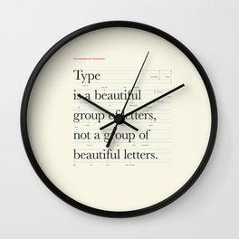 Typography Anatomy Wall Clock