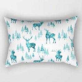 Ice Forest Deer Rectangular Pillow