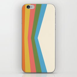 Retro Rainbow Reflection iPhone Skin