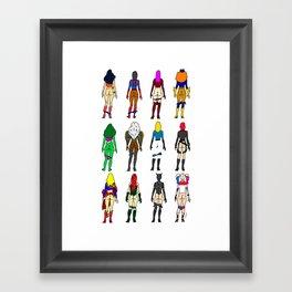 Superhero Butts - Girls Superheroine Butts Framed Art Print