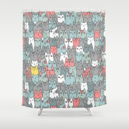 Cats family Shower Curtain