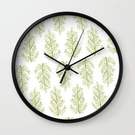 Green fern Wall Clock