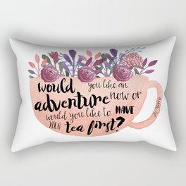 Adventure Or Tea Rectangular Pillow