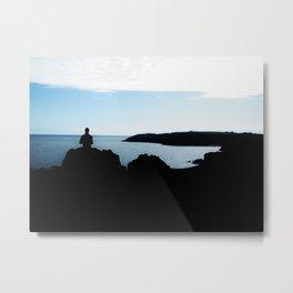 Tenby Silhouette Metal Print