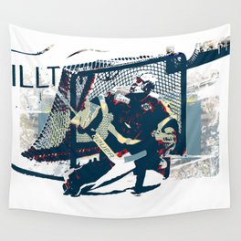 Goalie - Ice Hockey Player Wall Tapestry