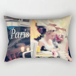 Paris street scene Rectangular Pillow