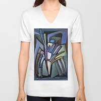 wings V-neck T-shirts featuring WINGS by Deyana Deco