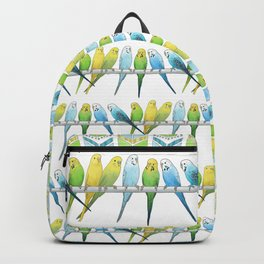 Row of Budgies Backpack