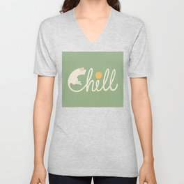 Cat Landscape 85: Chill Unisex V-Neck