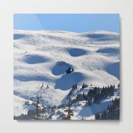 Back-Country Skiing - II Metal Print