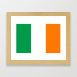Irish national flag - Flag of the Republic of Ireland, (High Quality Authentic Version) Framed Art Print