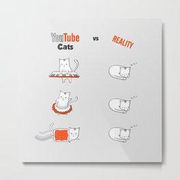 Youtube Cats vs Reality Metal Print