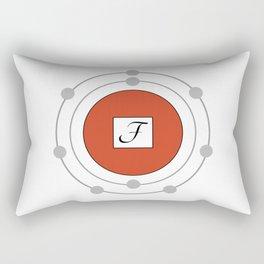 Fluorine - Bohr Model Rectangular Pillow