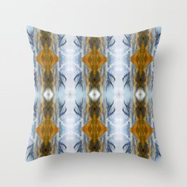Mountains & Antlers Throw Pillow