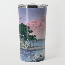Kiki's Delivery Service and vintage japanese woodblock mashup Travel Mug