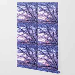 Periwinkle Lavender Flower Tree Wallpaper