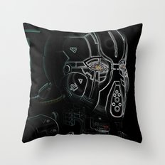 Glitchmask Zone Throw Pillow