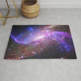 Spiral Galaxy Black Hole Galactic Fireworks Rug