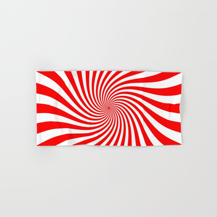 Swirl (Red/White) Hand & Bath Towel