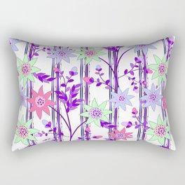bright floral print. Rectangular Pillow