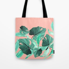 Jungle Foliage (Peach) Tote Bag