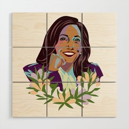 Madam Vice President for the People Wood Wall Art