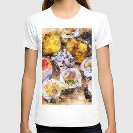 Sushi board - watercolor T-shirt